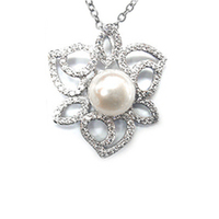 Gallery c9248 ct  e385 925 3.68g 1.2m 126 pearl 9.5 10mm